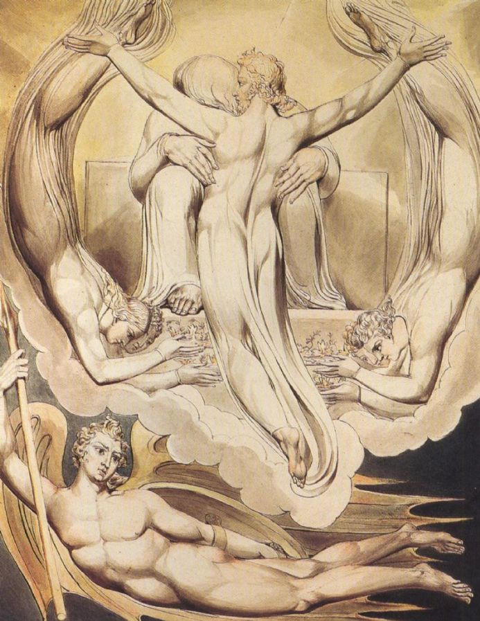 Blake, William: Christ as the Redeemer of Man. Fine Art Print/Poster. Sizes: A4/A3/A2/A1 (00451)
